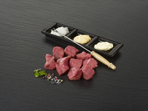 "Viande à fondue de boeuf ""Tende de tranche"""